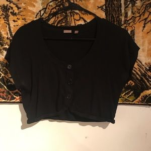 Sweaters - 3/$9 - Black 3 Buttoned Shrug